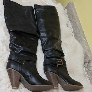 Aldo Shinkle over the knee black boots size 37